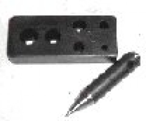 6 Hole collet  block with punch