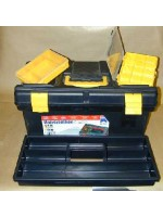 Large toolbox with pullout trays (plastic)