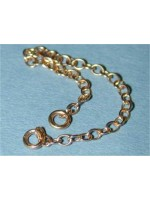 9ct red gold bracelet safety chain