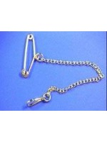 9ct gold brooch safety chain